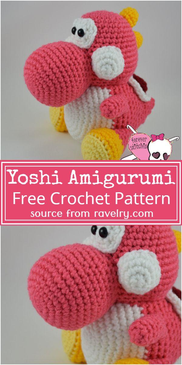 Free Crochet Yoshi Amigurumi Pattern