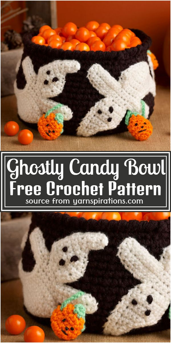 Ghostly Candy Bowl Crochet Pattern
