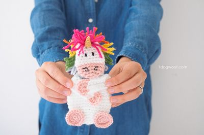 Gift Card Holder Crochet Unicorn Pattern