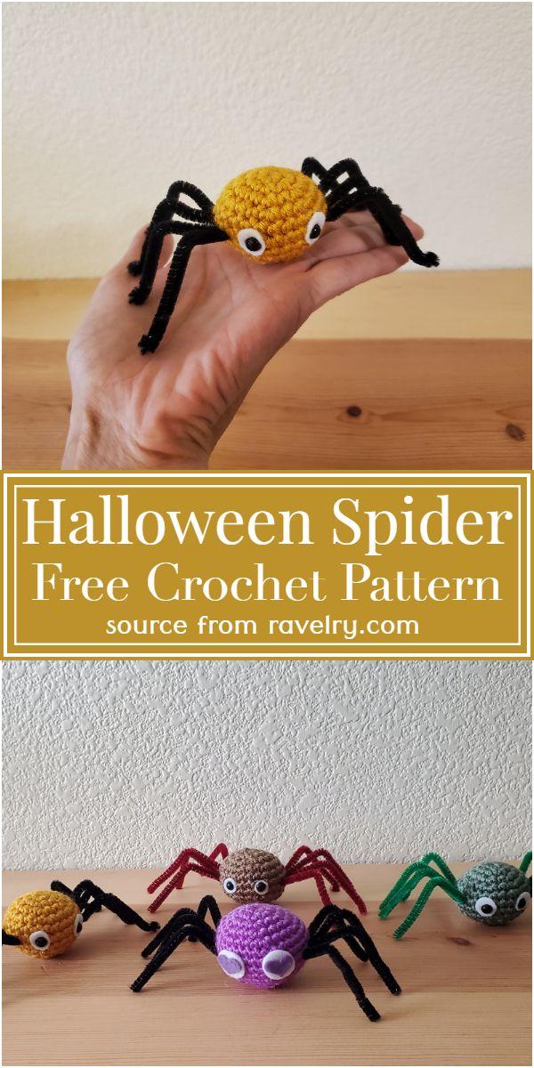 Halloween Crochet Spider Free Pattern