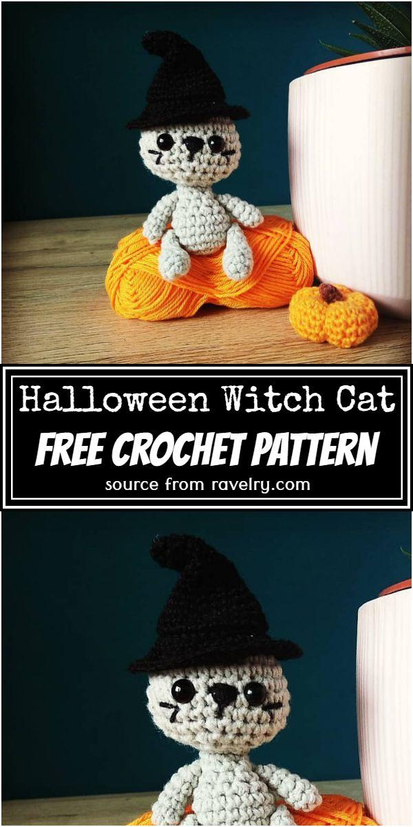 Halloween Witch Cat Crochet Pattern