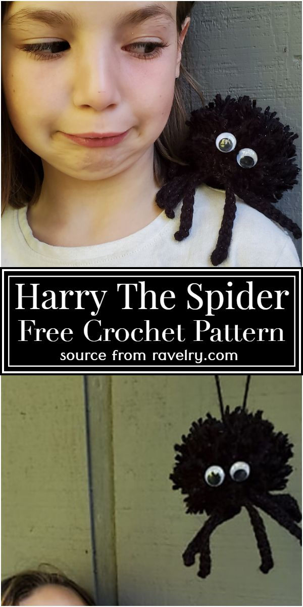 Harry The Crochet Spider Free Pattern