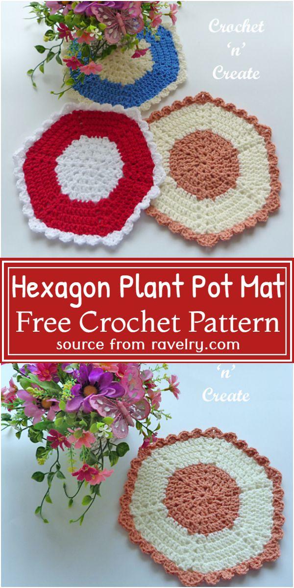 Plant Pot Mat Pattern