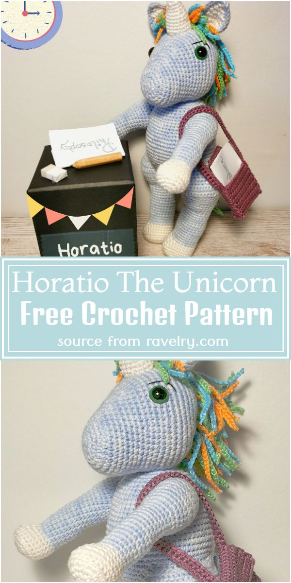 Horatio The Free Unicorn Crochet Pattern