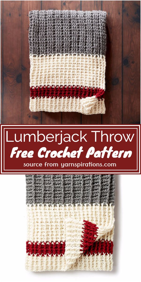 Lumberjack Crochet Throw Free Pattern