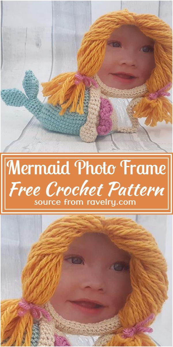 Mermaid Photo Frame Crochet Pattern