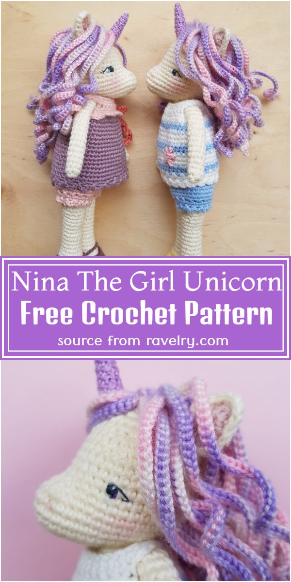Nina The Girl Crochet Unicorn Pattern Free