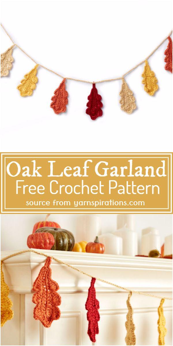 Oak Leaf Garland Crochet Pattern
