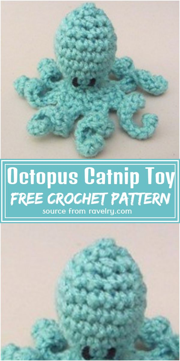 Octopus Catnip Toy Crochet Pattern