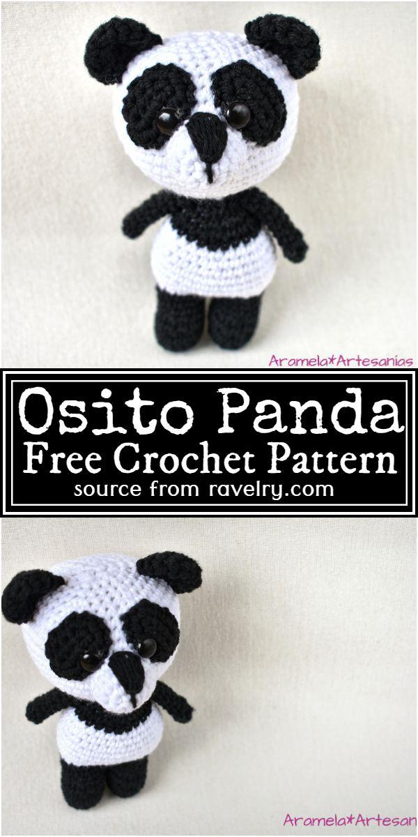 Osito Crochet Panda Free Pattern