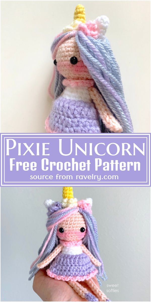 Pixie Crochet Unicorn Pattern Free