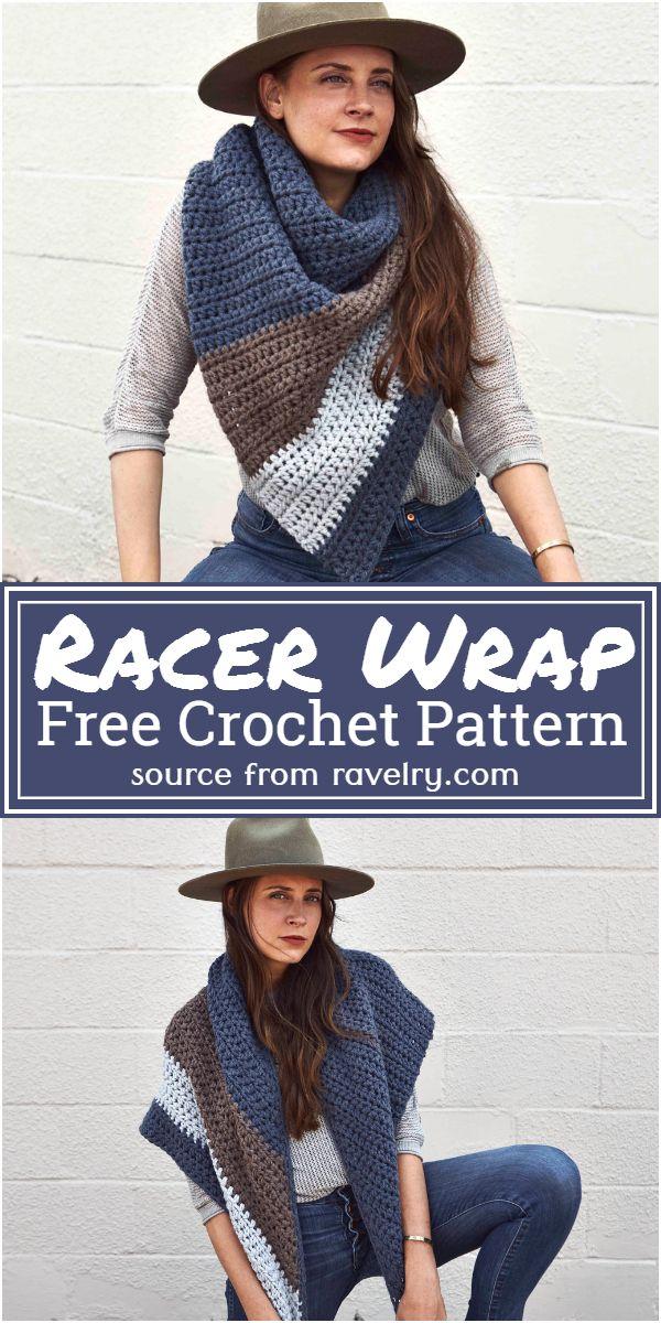 Racer Wrap Crochet Pattern
