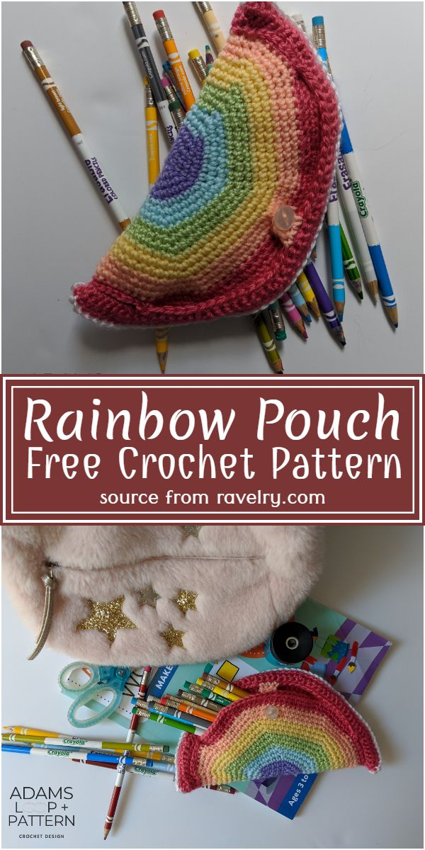 Rainbow Pouch Crochet Pattern