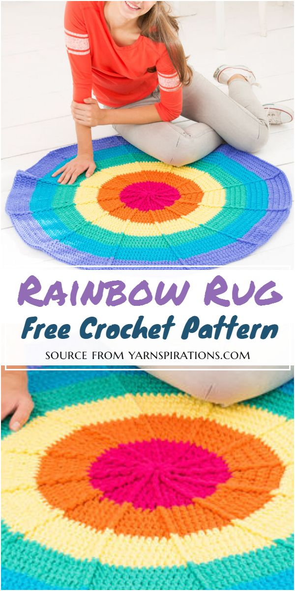 Rainbow Rug Crochet Pattern