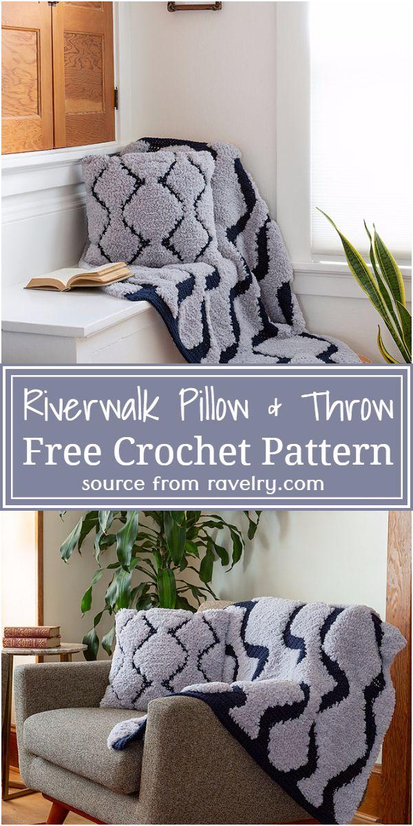 Riverwalk Pillow & Throw Crochet Pattern
