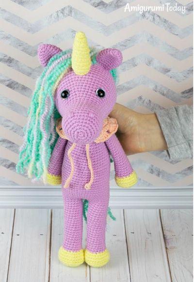 Shy Amigurumi Unicorn Crochet Pattern