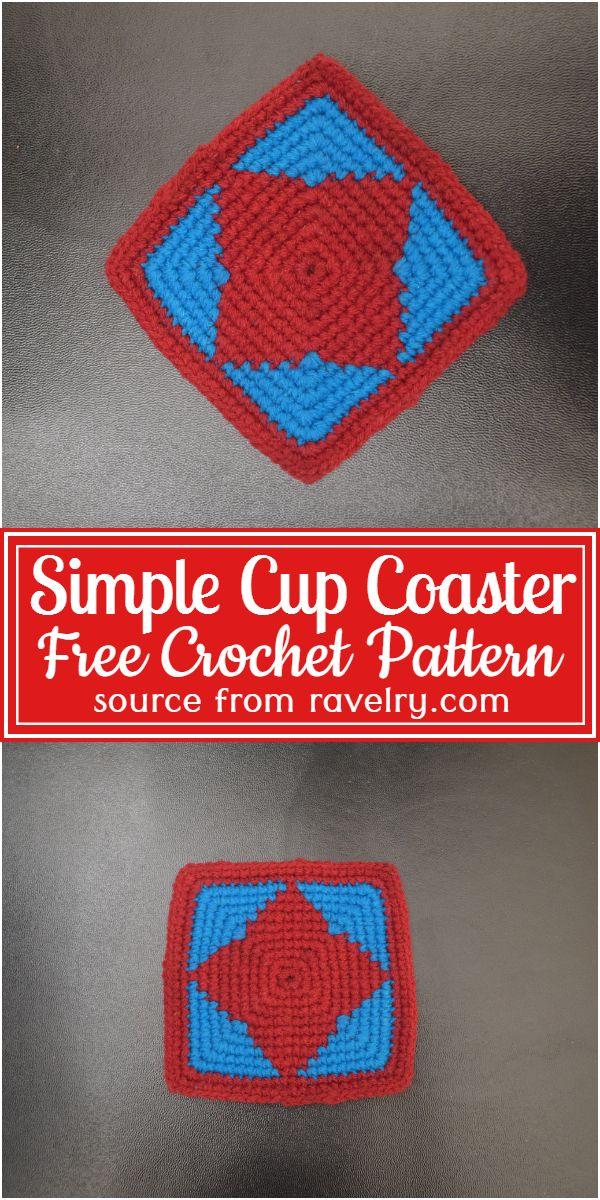 Simple Cup Coaster Crochet Pattern
