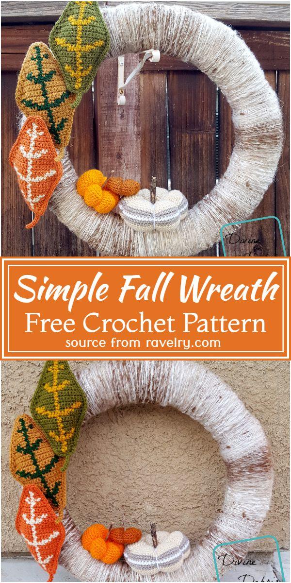 Simple Fall Wreath Crochet Pattern