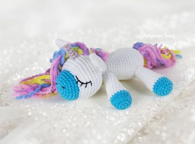 Sleeping Crochet Pony Unicorn Pattern
