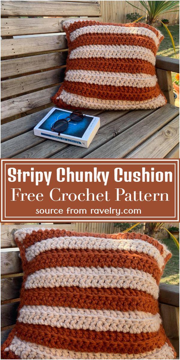 Stripy Chunky Cushion Crochet Pattern