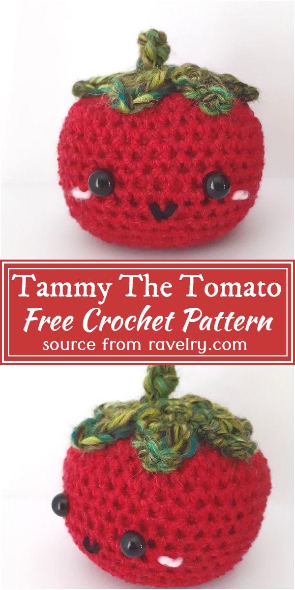 Tammy The Tomato Crochet Pattern