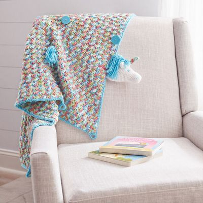 Unicorn Crochet Baby Blanket Pattern