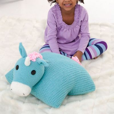 Unicorn Crochet Pillow Pal Pattern