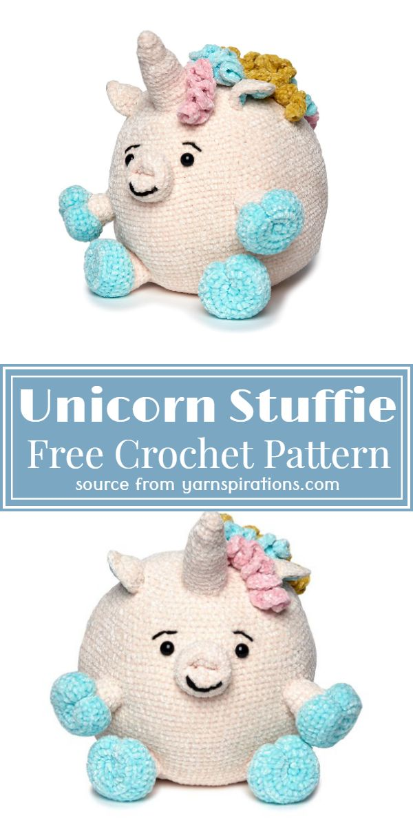 Unicorn Stuffie Crochet Pattern