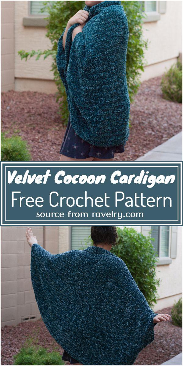 Velvet Cocoon Cardigan Crochet Pattern