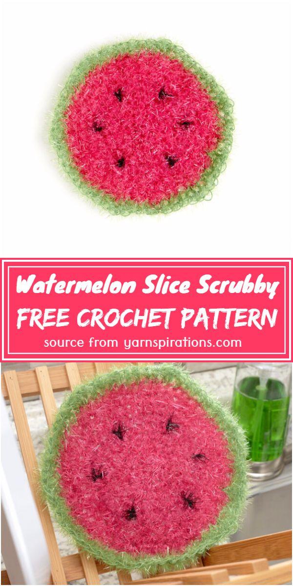 Watermelon Slice Scrubby Crochet Pattern