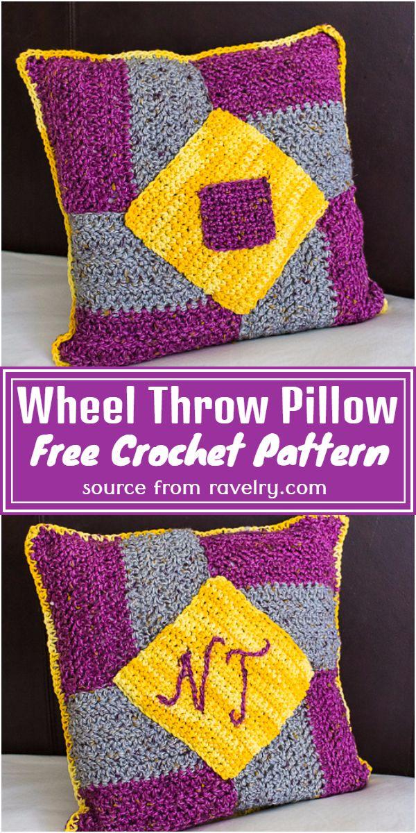 Wheel Crochet Throw Pillow Pattern