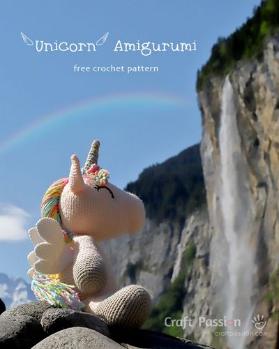 Winged Amigurumi Unicorn Free Pattern
