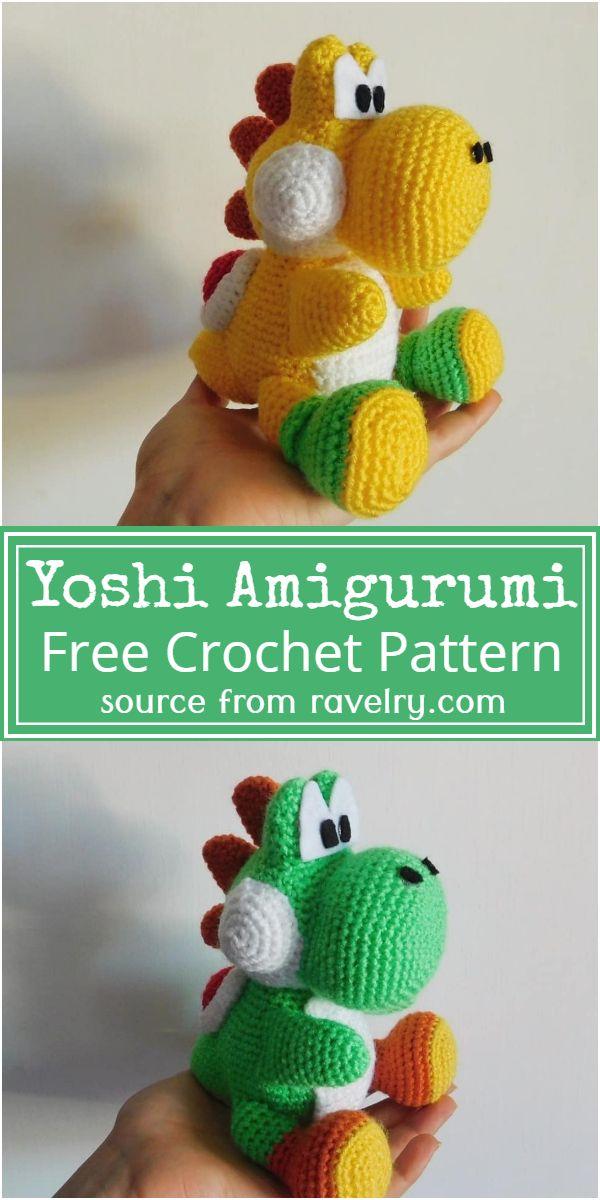 Yoshi Amigurumi Crochet Pattern