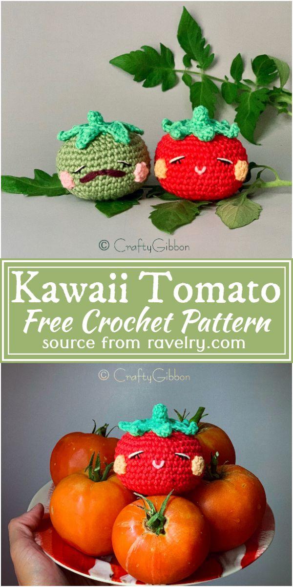 Kawaii Tomato Crochet Pattern