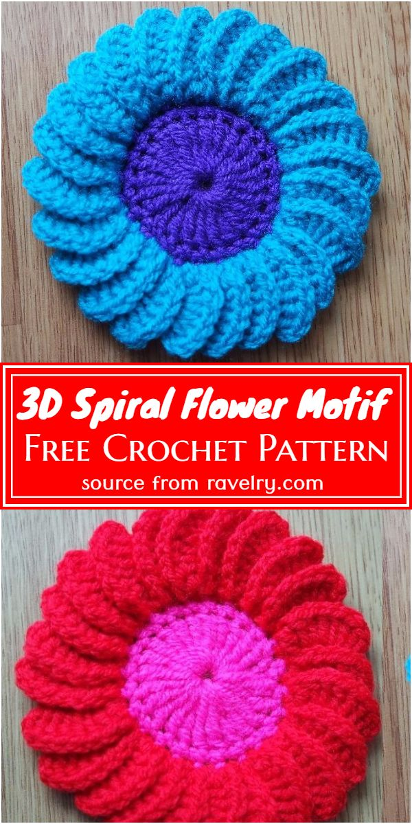 Spiral Flower Motif Pattern