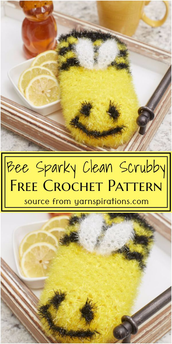 Bee Sparky Clean Scrubby Crochet Pattern