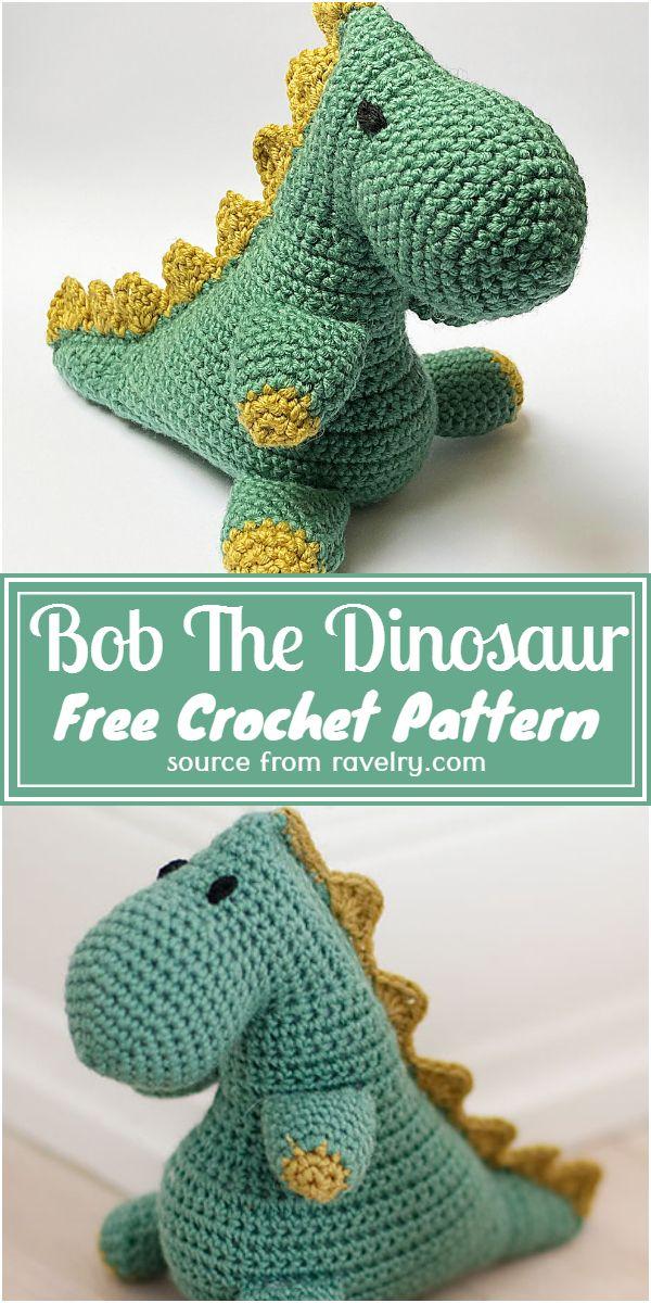 Bob The Dinosaur Crochet Pattern