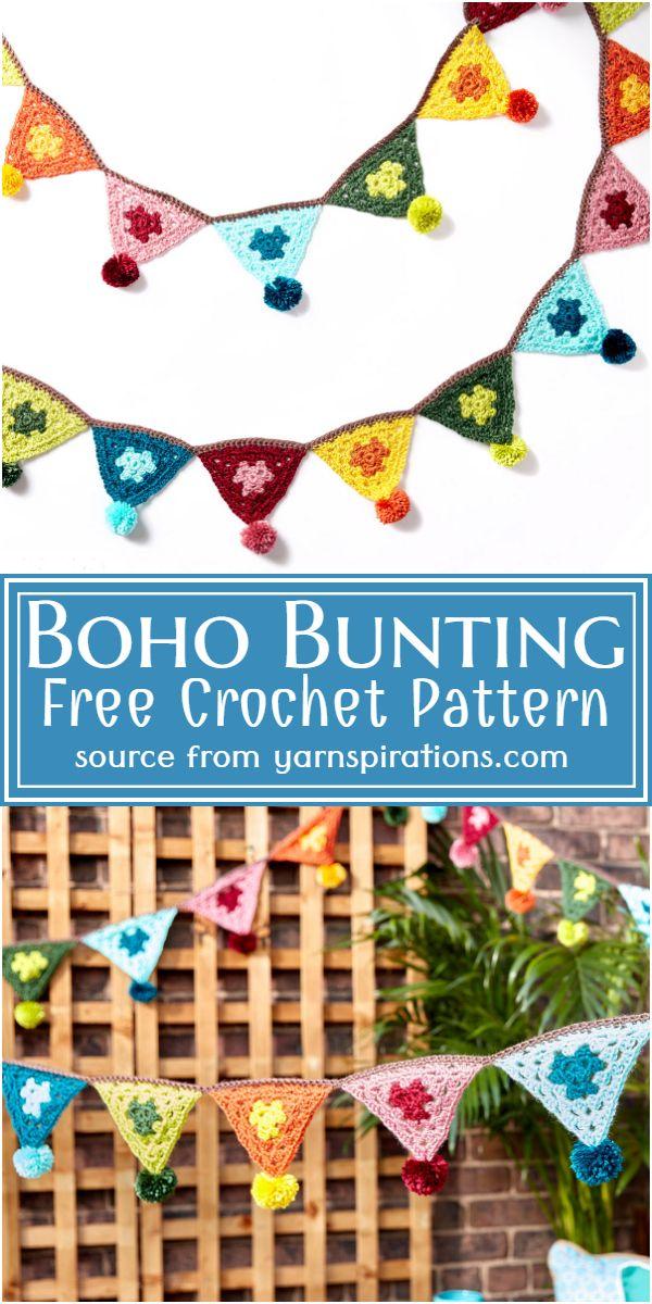 Boho Bunting Crochet Pattern