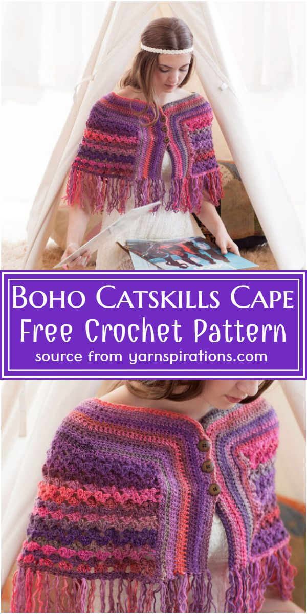 Boho Catskills Cape Crochet Pattern