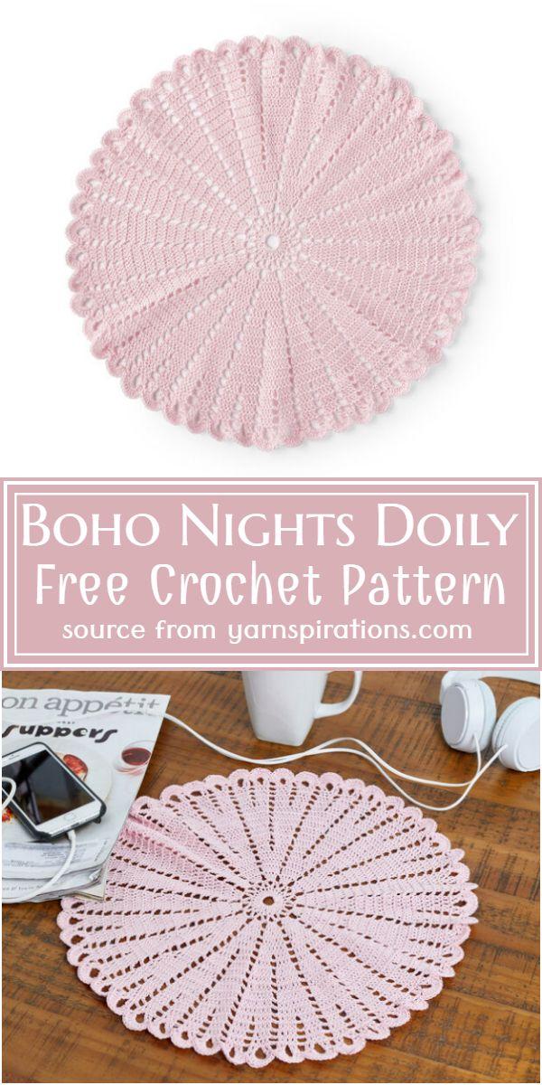 Boho Nights Doily Crochet Pattern