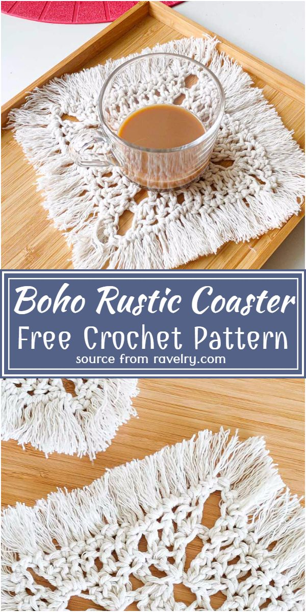 Boho Rustic Coaster Crochet Pattern