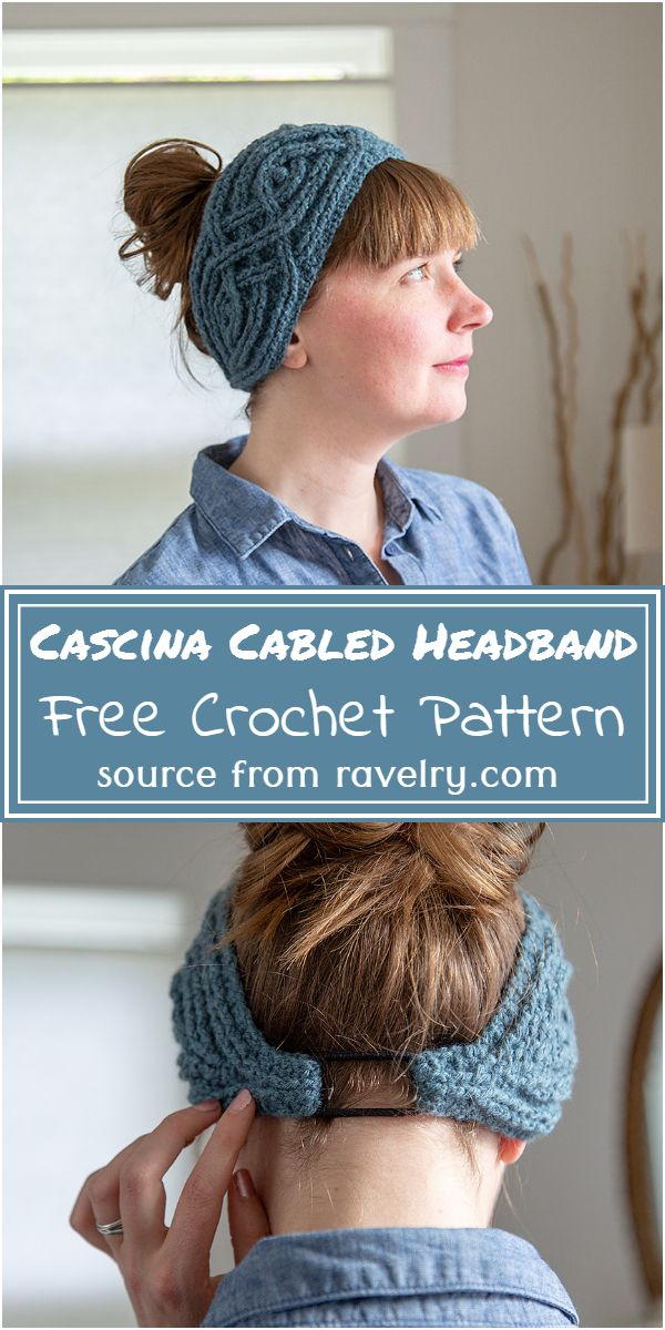 Cascina Cabled Headband Crochet Pattern
