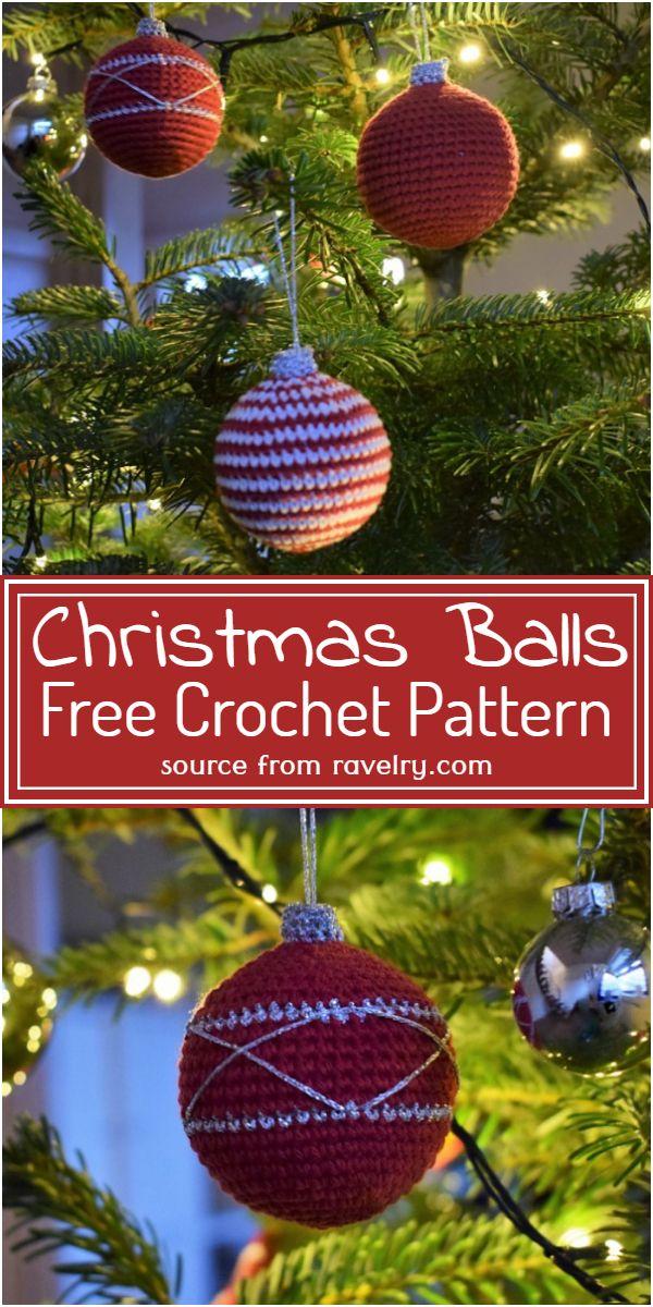 Christmas Balls Crochet Pattern