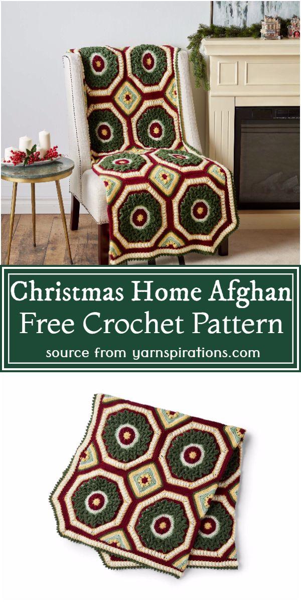 Christmas Home Afghan Crochet Pattern