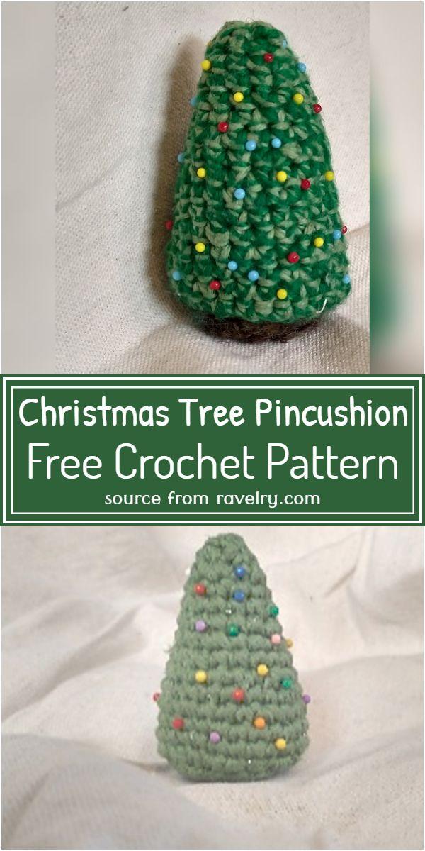Christmas Tree Pincushion Crochet Pattern
