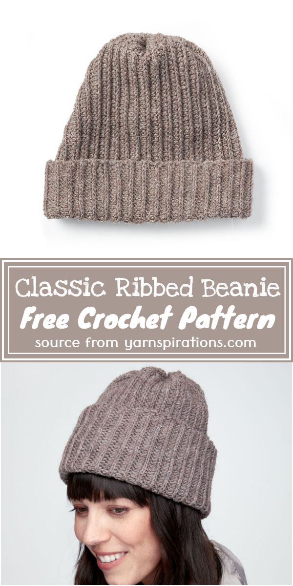 Classic Ribbed Beanie Crochet Pattern