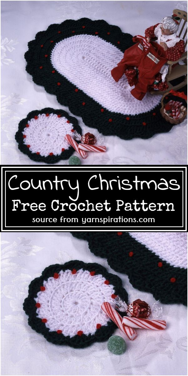 Country Christmas Crochet Pattern