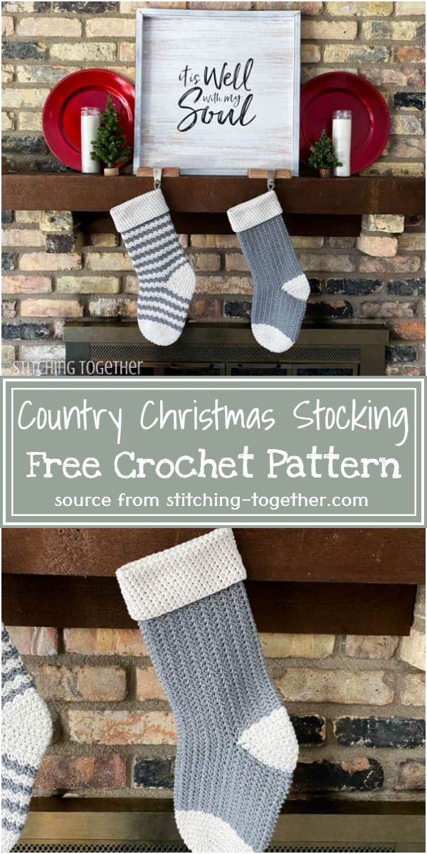 Country Crochet Christmas Stocking Free Pattern