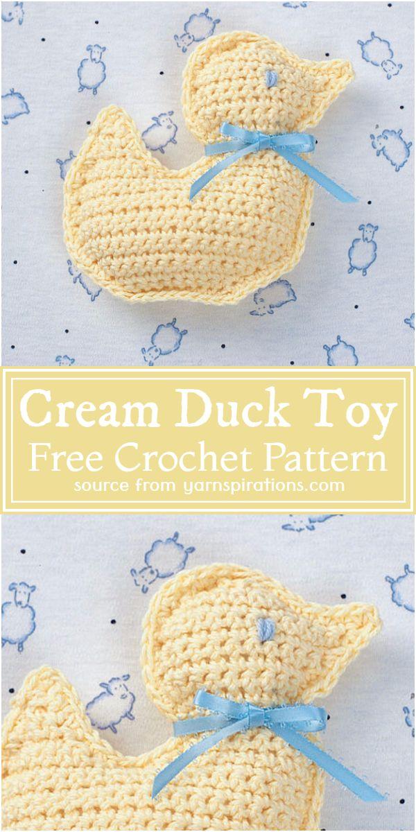 Cream Duck Toy Crochet Pattern