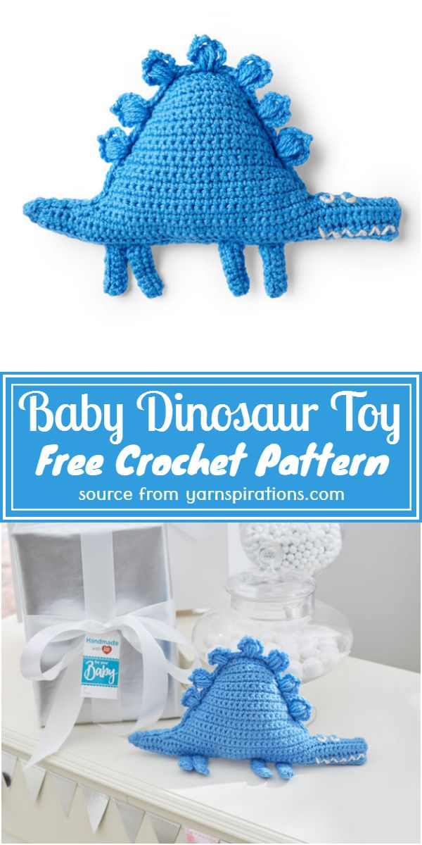 Crochet Baby Dinosaur Toy Pattern